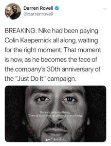 Collin Kapernick - Nike Endorsement