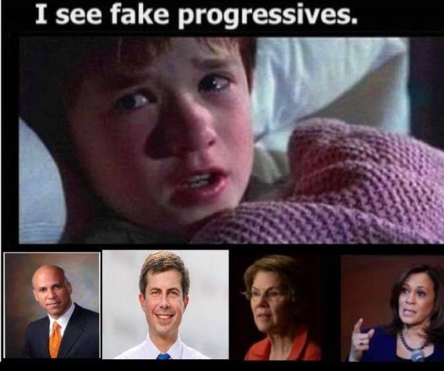 I see fake progressives!