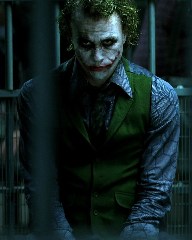Heath Ledger as the Joker from the movie The Dark Knight (2008)