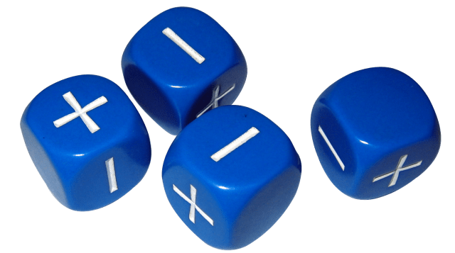 Blue Fudge Dice