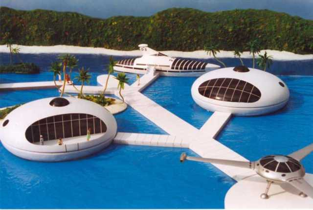 Small Ocean-side Pod Homes (The Venus Project)