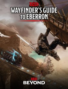 book cover for the Wayfinder's Guide to Eberron