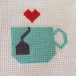 tea love free cross stitch pattern preview