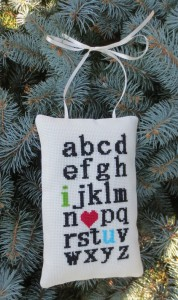 i love you alphabet ornament