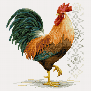 Proud Rooster Free Cross Stitch Pattern
