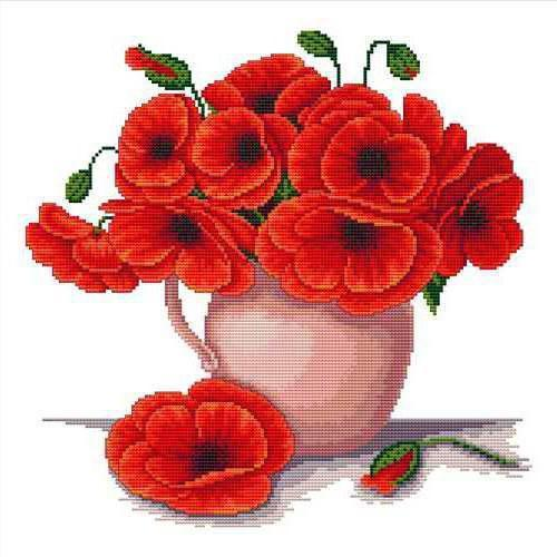 Beautiful Poppies in a Vase