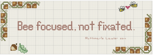 Bee Focused Free Cross Stitch Pattern
