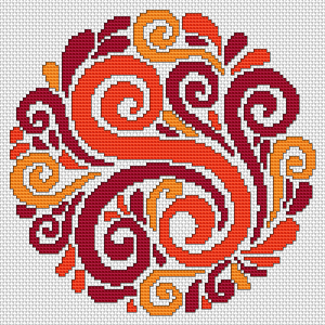free decorative cross stitch pattern