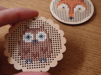 owl and fox cross stitch projects