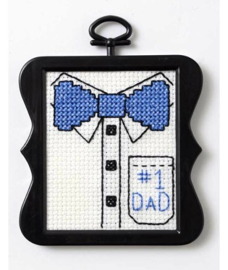 fathers day mini #1 dad cross stitch pattern