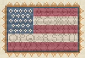 Americana Sampler Flag