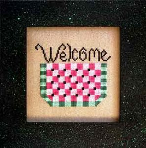 watermelon welcome cross stitch pattern