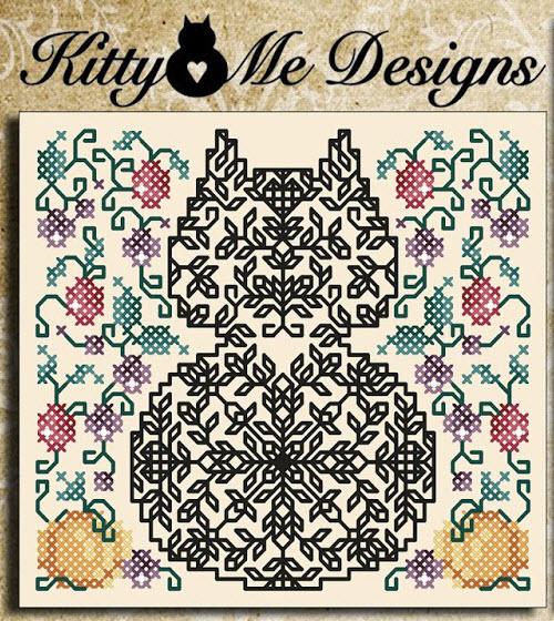 Cross Stitch Cat Smokey Joe Pattern Instant Digital PDF Download by Pamela Kellogg