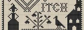witch free cross stitch pattern from SubRosa