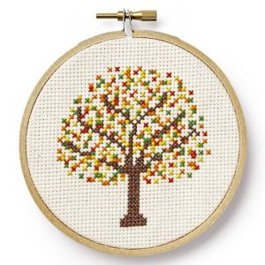 Autumn Tree free cross stitch pattern from Country Living magazine