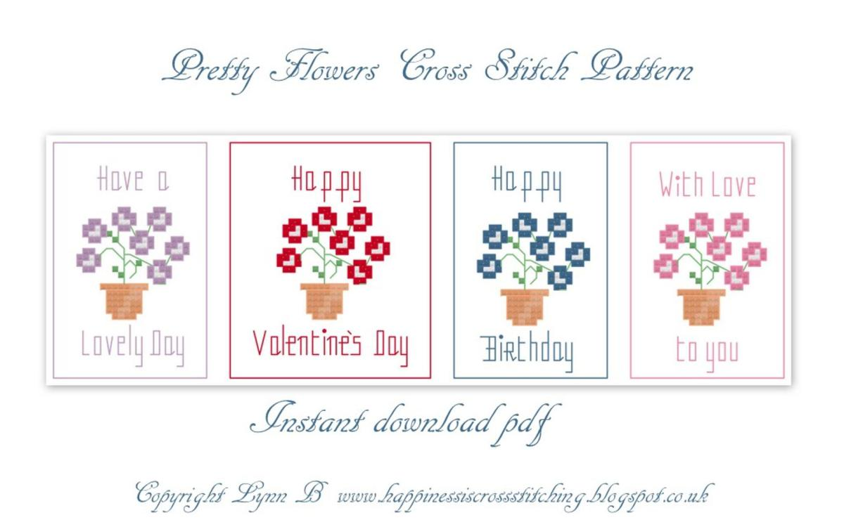Free flower cross stitch patterns for cards and gifts mightylinksfo