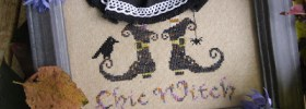 Chic Witch free cross stitch pattern (witchy feet)