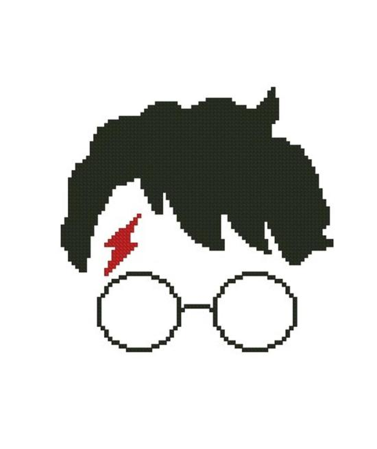 free harry potter cross stitch silhouette pattern