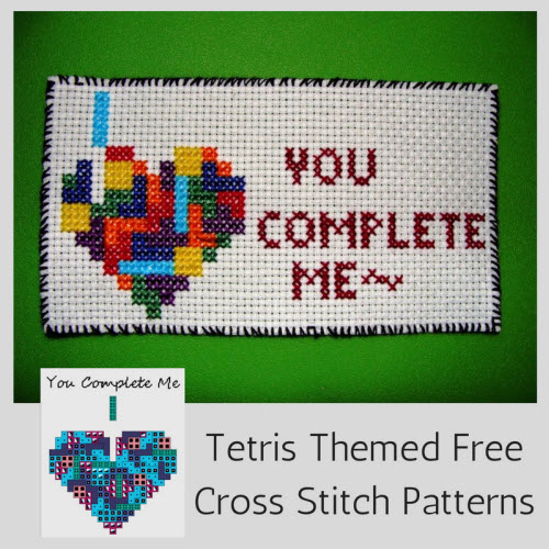 Heart Shaped Tetris Cross Stitch Patterns