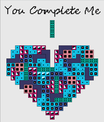 You Complete Me Tetris Cross Stitch Pattern