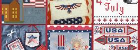 12 Free Patriotic Cross Stitch Patterns