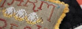 Farm Fresh free cross stitch pattern with JABC mini pins