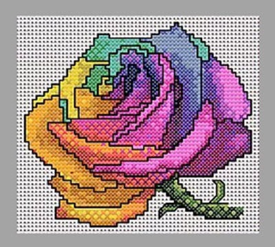 Rainbow Rose from Mucky Musings