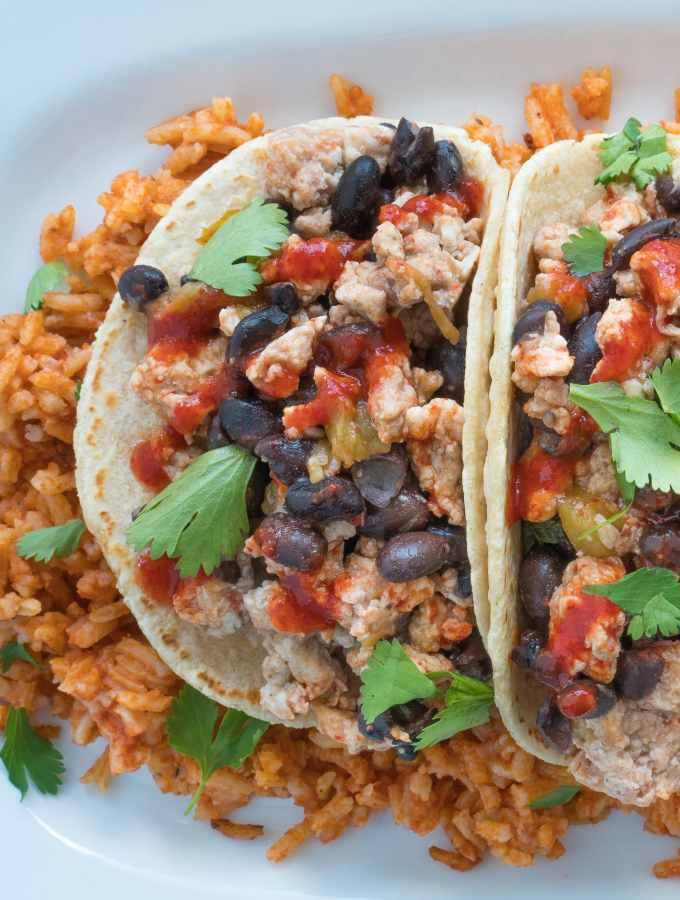Southwestern Breakfast Tacos Plate