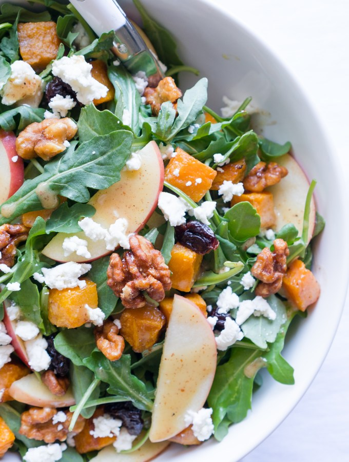 Roasted Butternut Squash Salad Goat Cheese