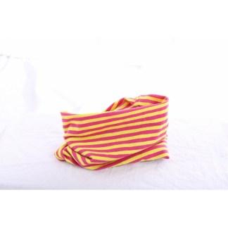 Loop pink/gelb gestreift