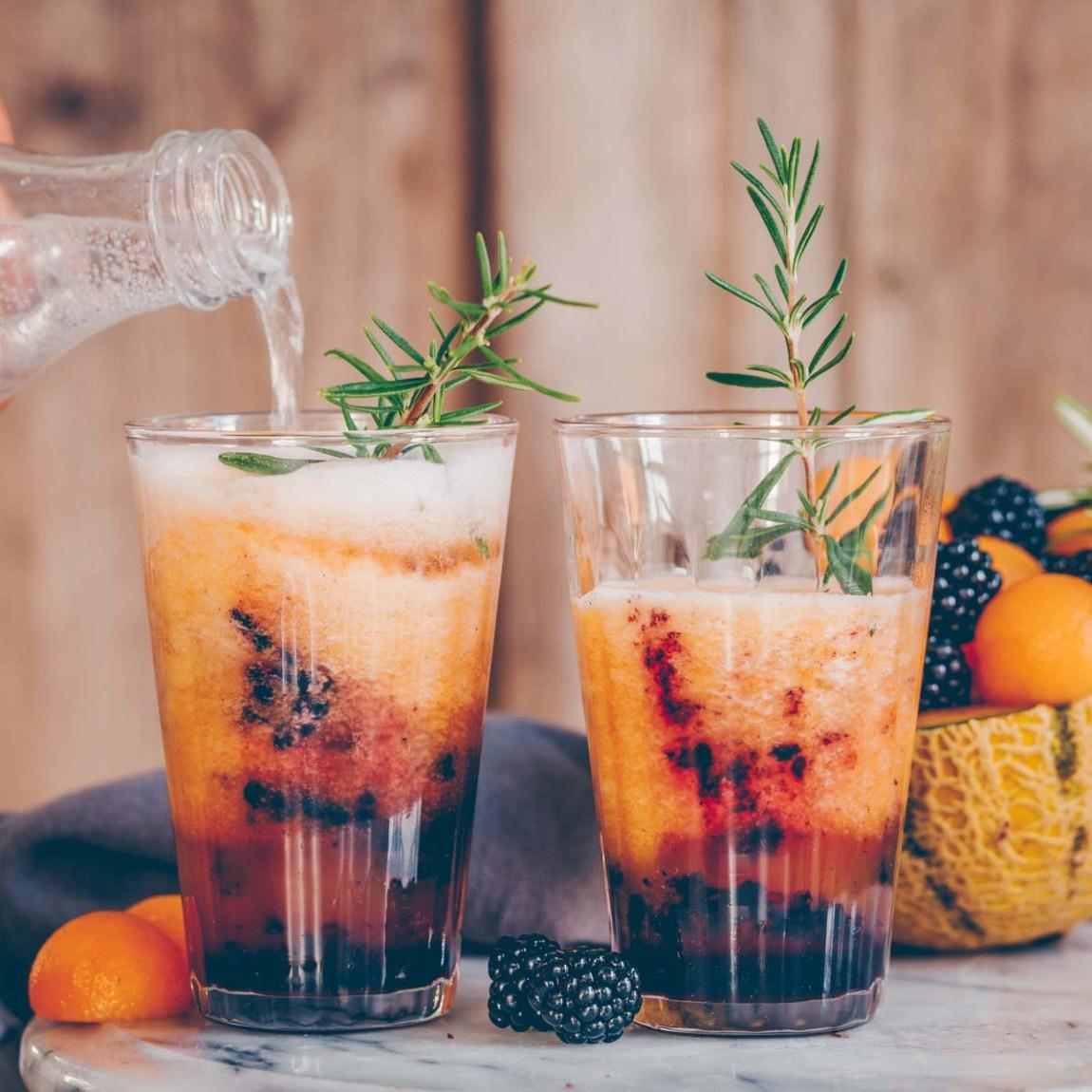 Blackberry Melon Cocktail