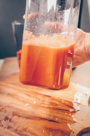 Juicing with a slow juicer