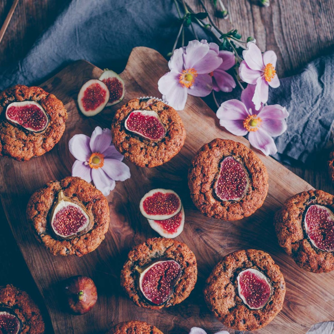 Vegan Fig Walnut Muffins