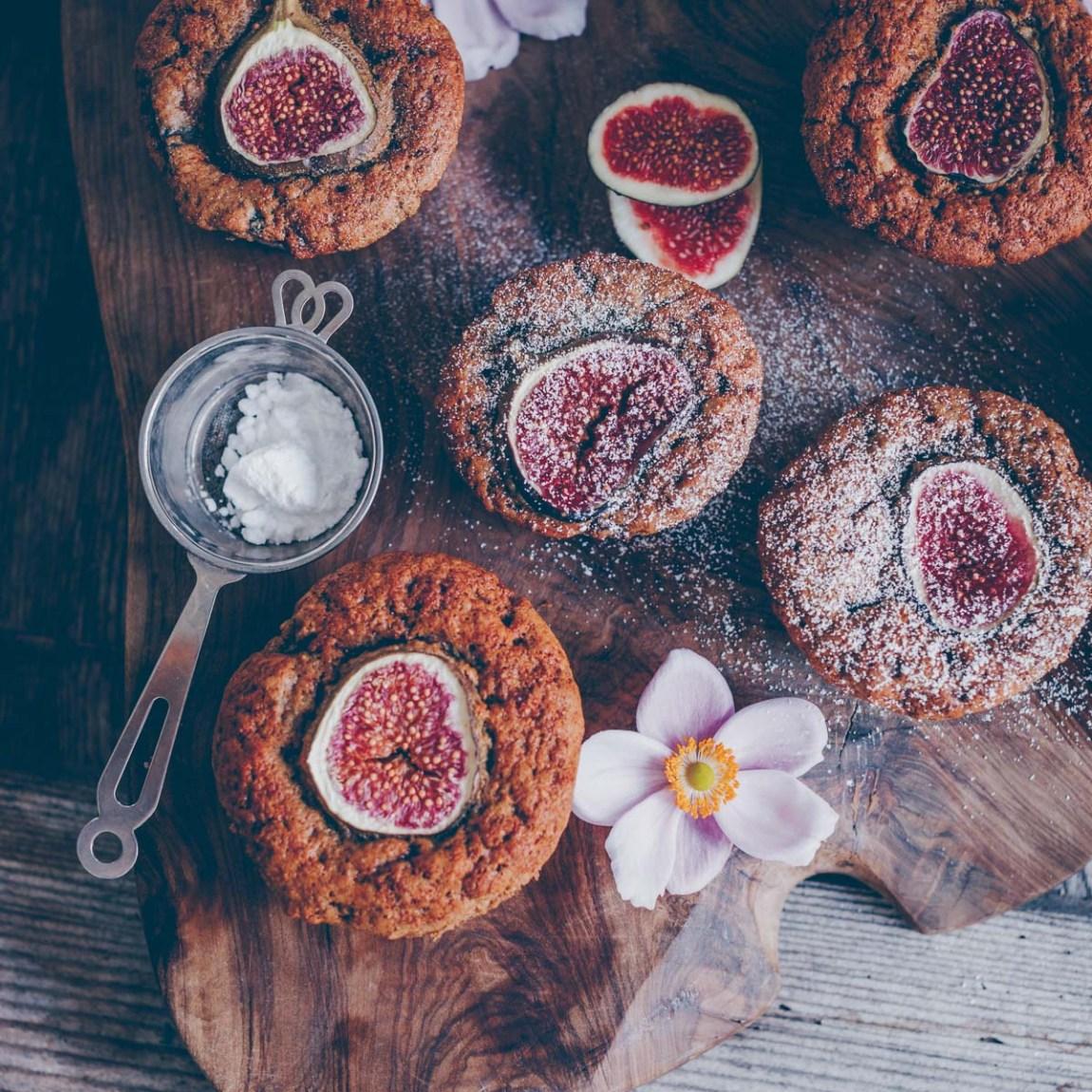 Vegan Fig Walnut Muffins