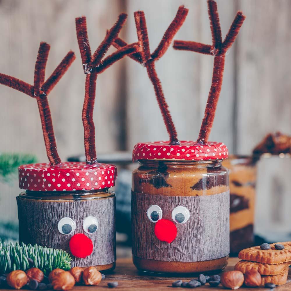 Rudolph Gläser Weihnachtsgeschenke basteln