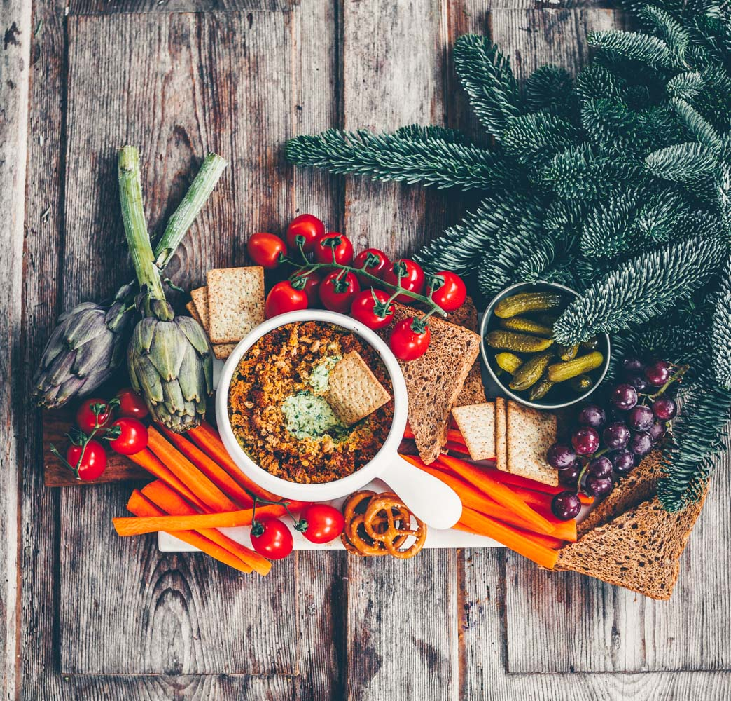 Veganes Weihnachtsmenü.Christmas Menu Part 1 Dips And Snack Platters Freistyle