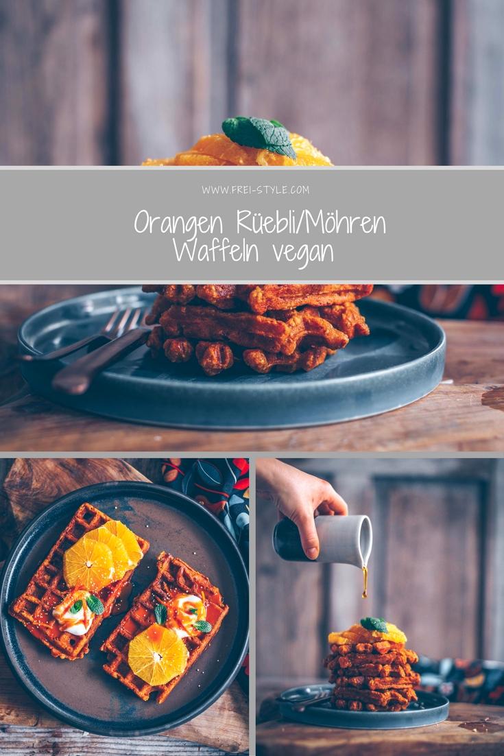 Orangen Möhren Waffeln vegan