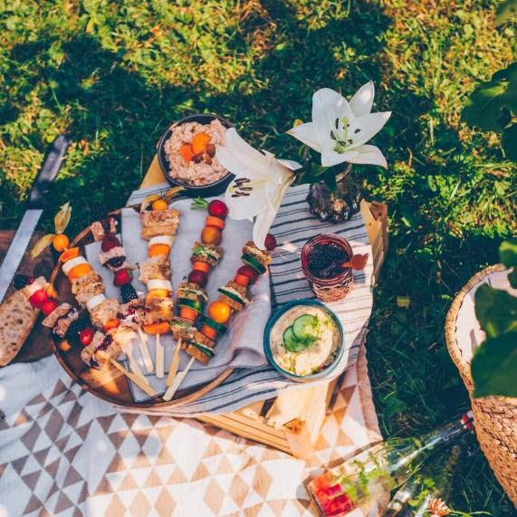 Garten-Picknick