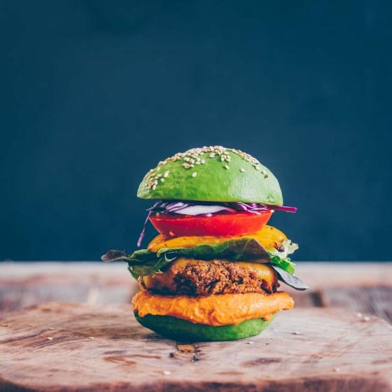 Tofu-Pilz Burger vegan