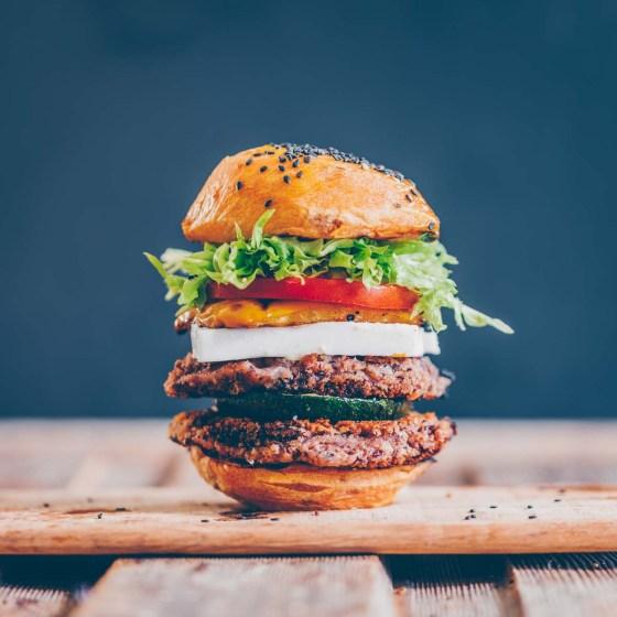 Feta Bohnen Burger vegan