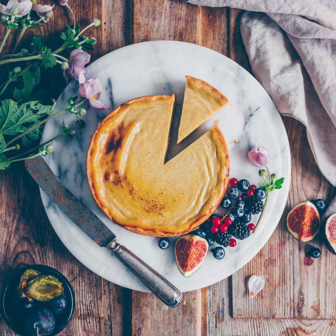 Käsekuchen vegan mit Seidentofu