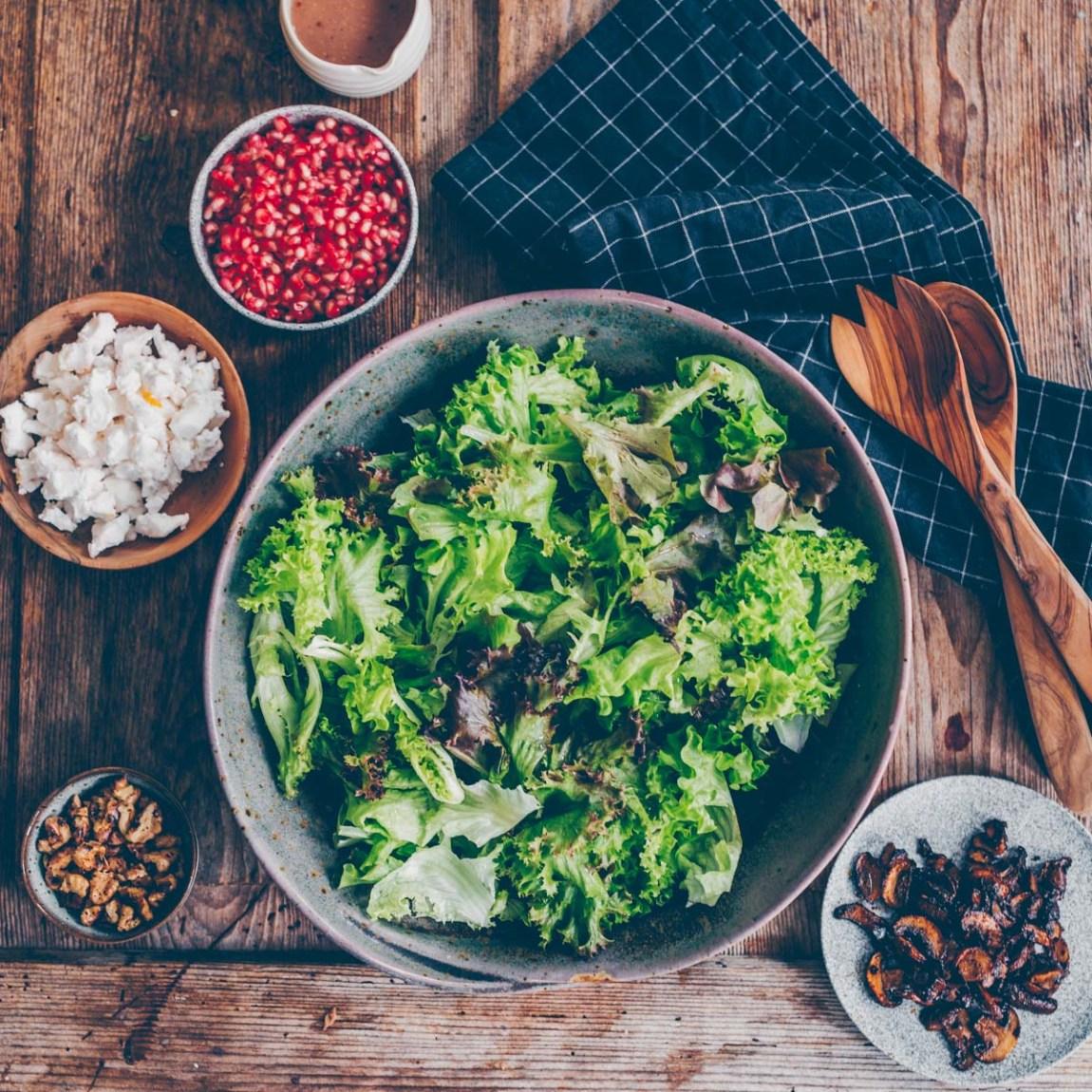 Salat mit geröstetem Kürbis