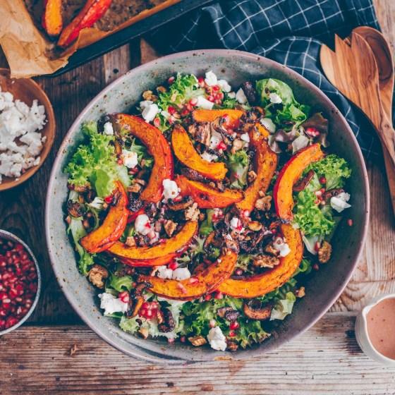 Salat mit Kürbis