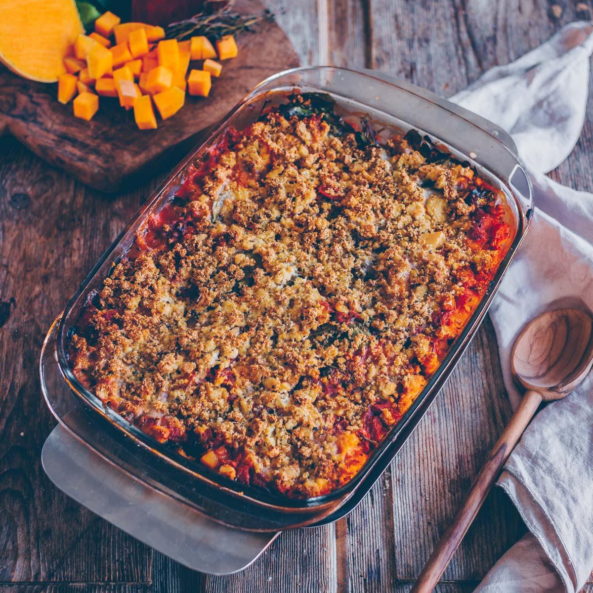 Herbst Lasagne mit Kürbis