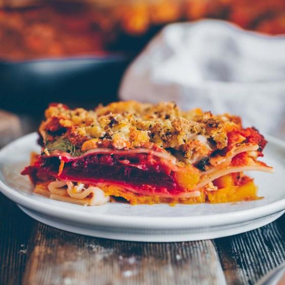 Herbst Lasagne mit Kürbis vegan