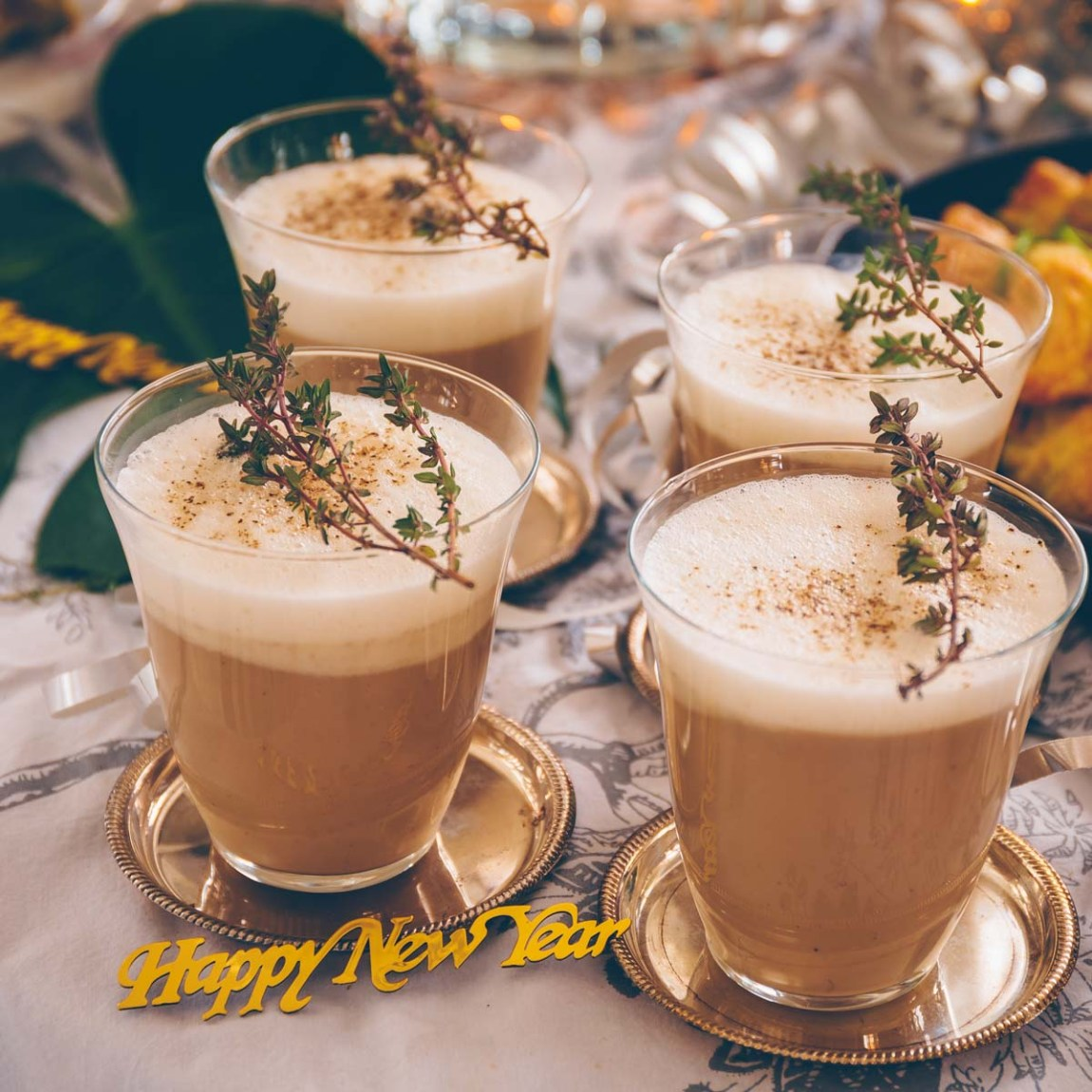 Silvester Party: Pilz-Cappucchino vegan