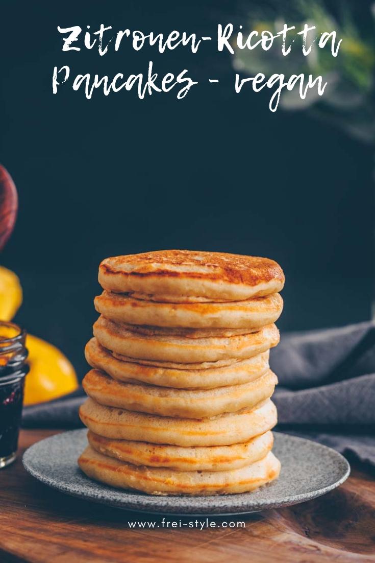 Zitronen-Ricotta Pancakes vegan