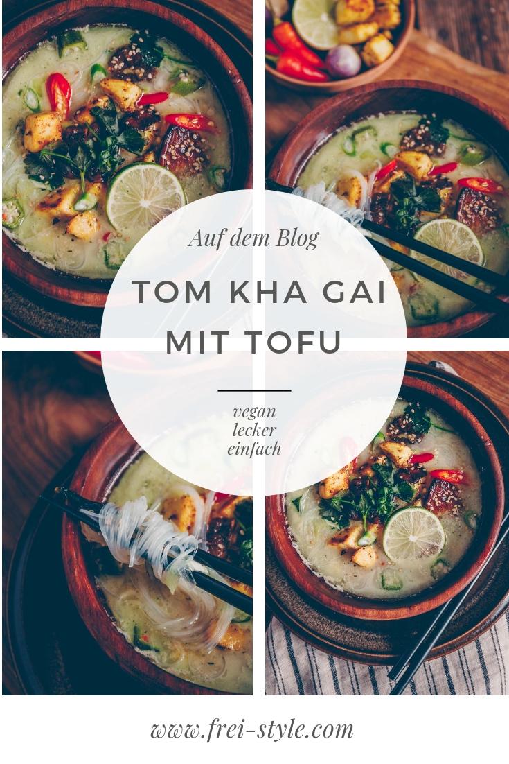 Vegane Tom Kha Gai mit Tofu