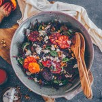 Beetroot salad with oranges and ricotta