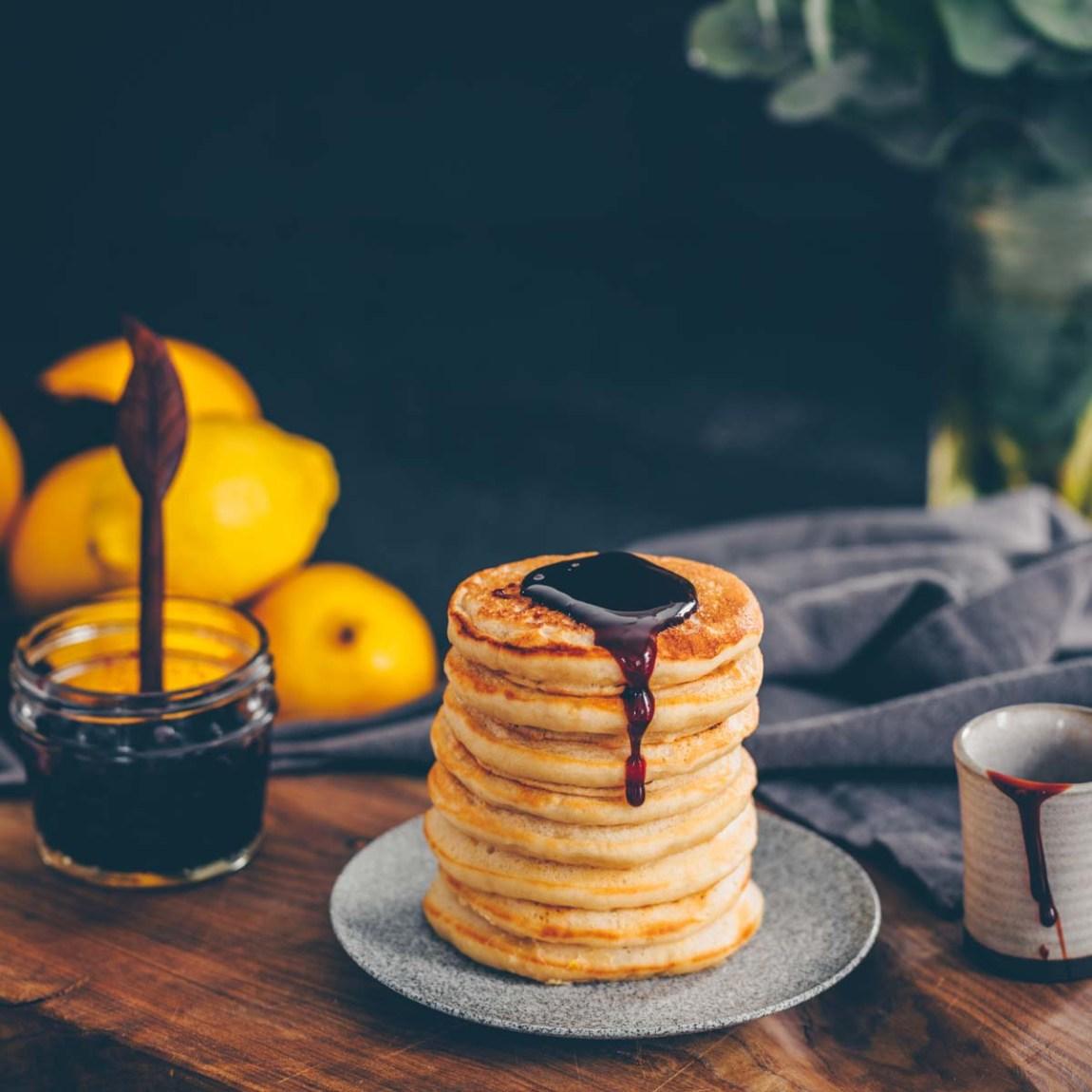 Zitronen-Ricotta Pancakes